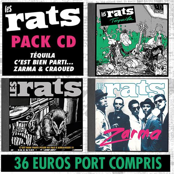 LES RATS Pack 3 CD