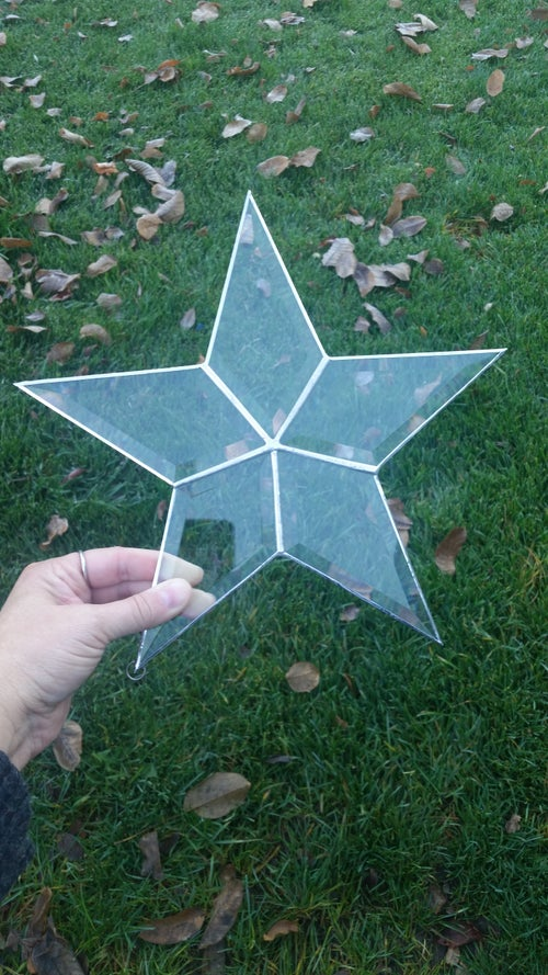 Image of Large Beveled Star -stained glass