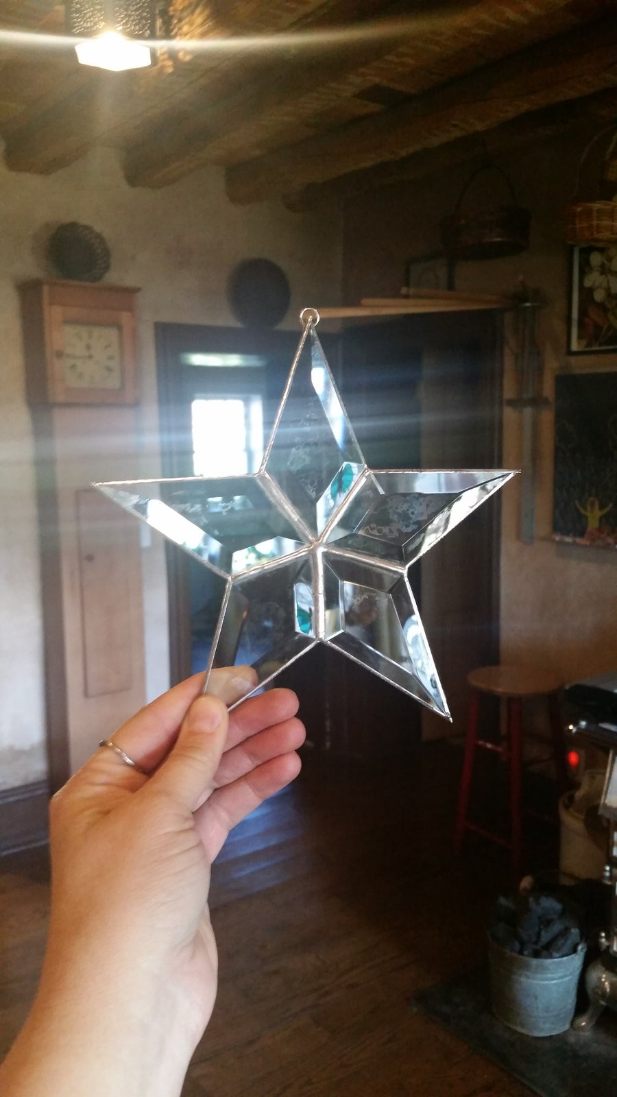 Image of Beveled Star-stained glass