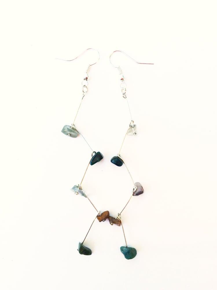 Image of Gemstone Branch Earrings