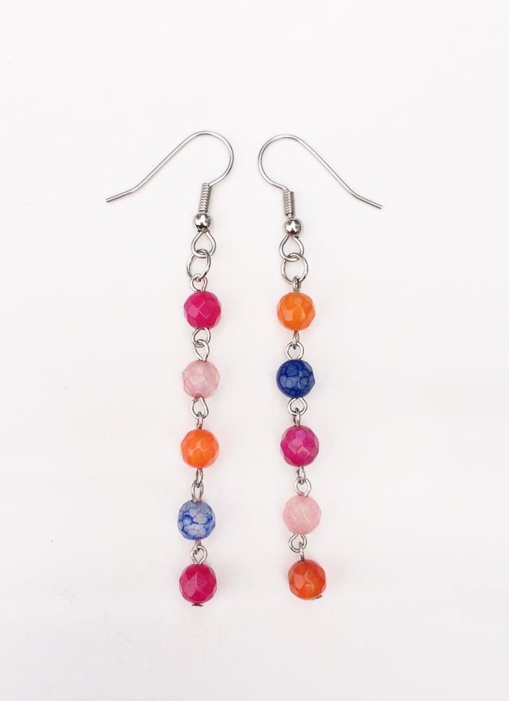 Image of Agate Link Earrings