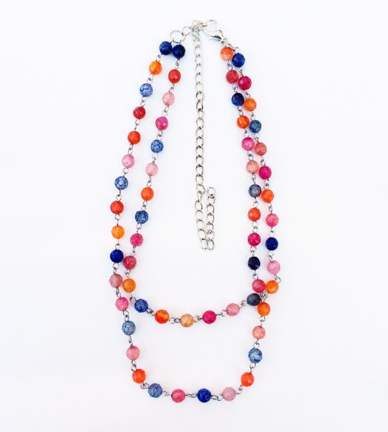 Image of Agate Link Necklace