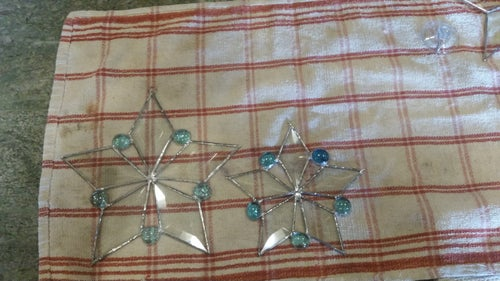 Image of Bevel & Gem Snowflake - stained glass