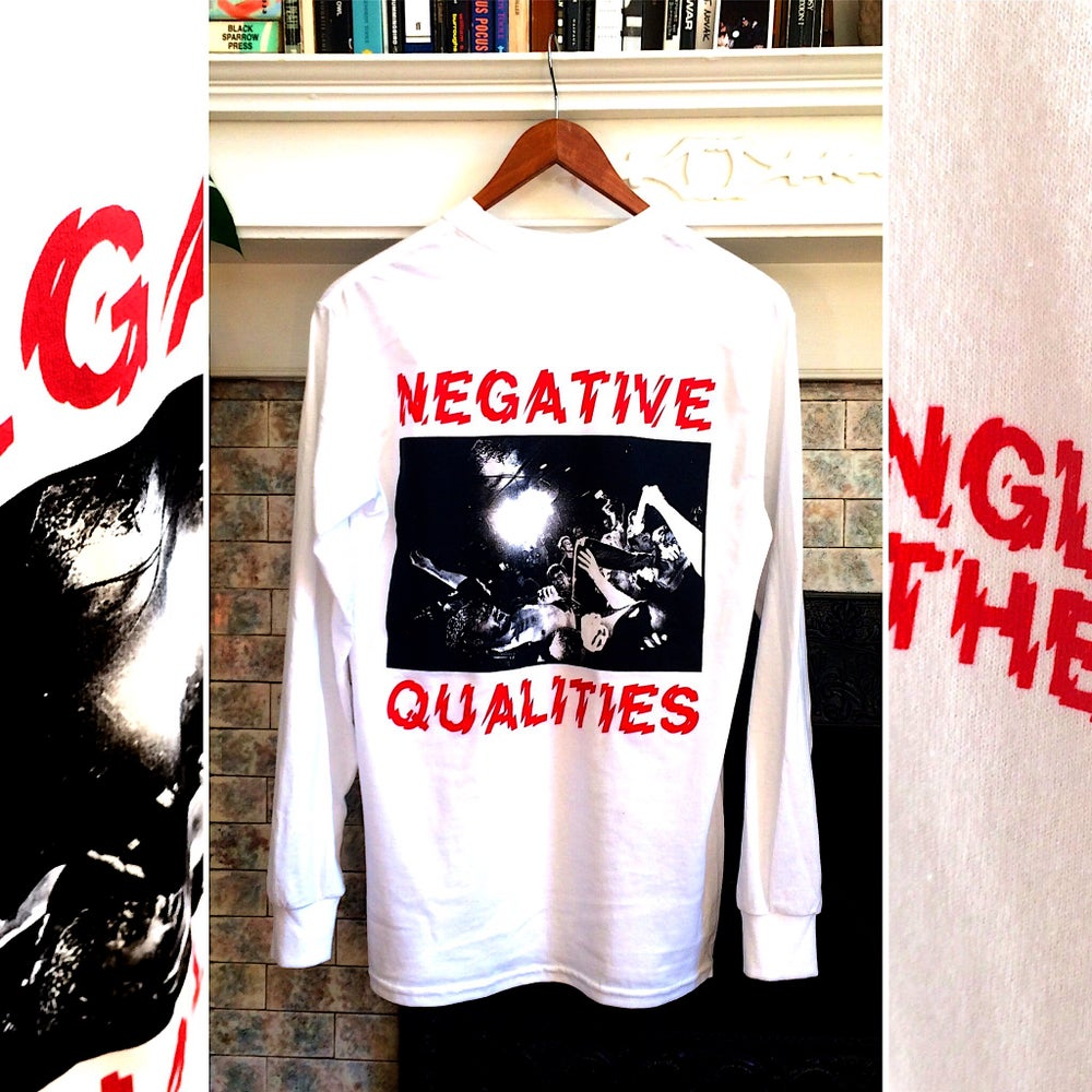 Image of Negative Qualities - Long Sleeve, WHITE/RED