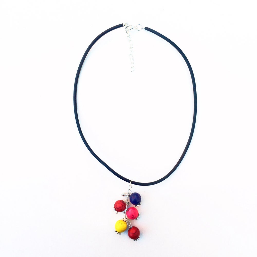 Image of Bubblegum Howlite and Rubber Necklace
