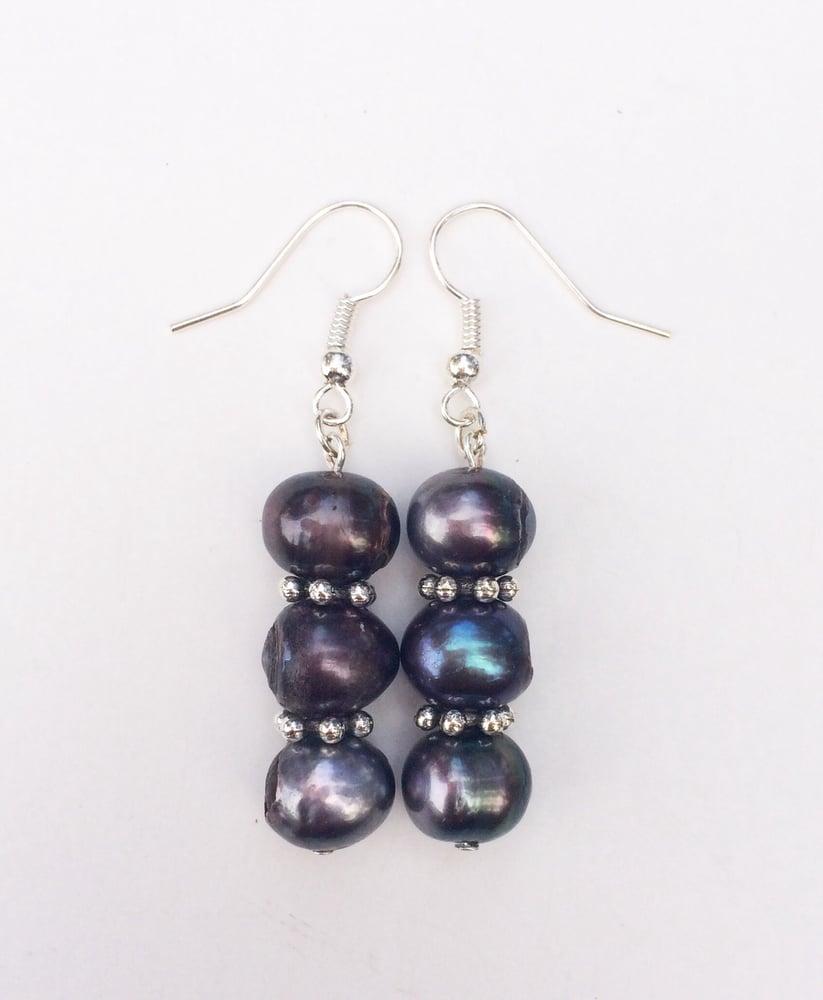 Image of Pearl Petal Spacer Earrings