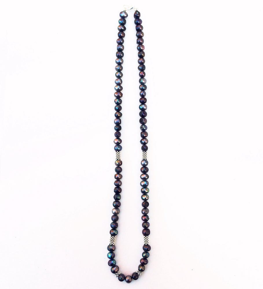 Image of Pearl Petal Spacer Necklace