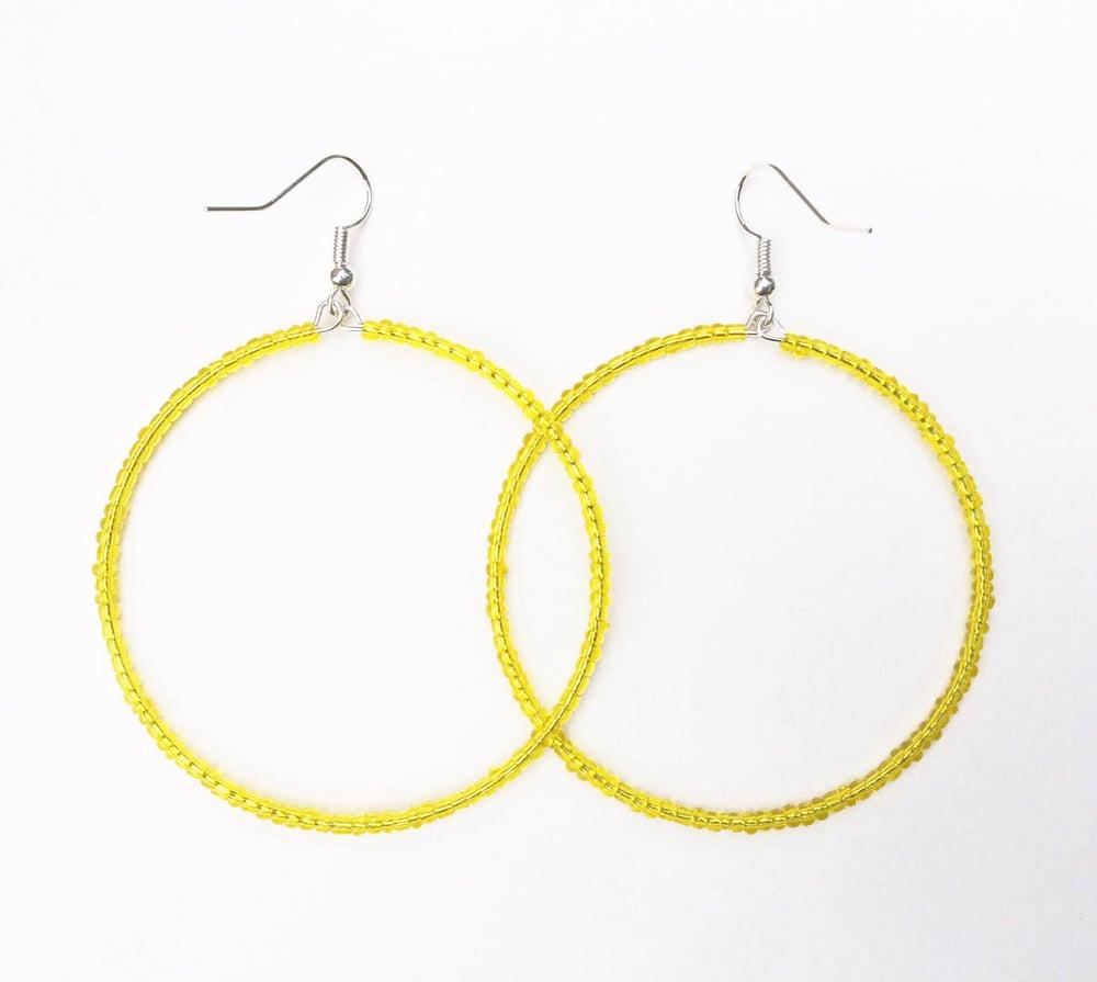 Image of Seed Bead Hoop Earrings