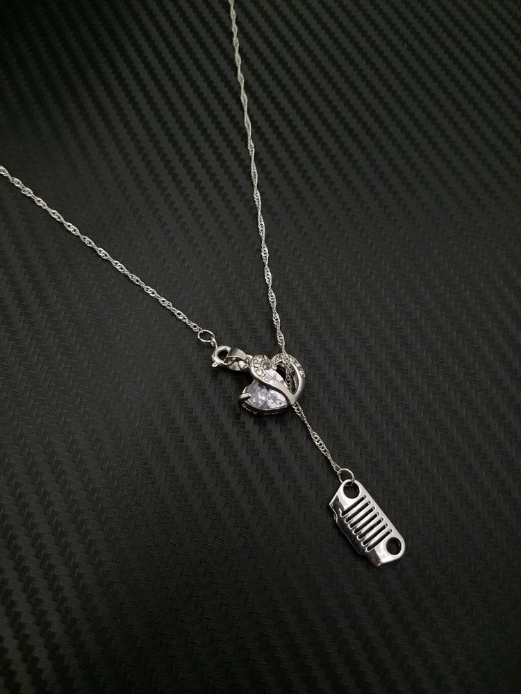 Image of Jeep Heart Lariat Necklace
