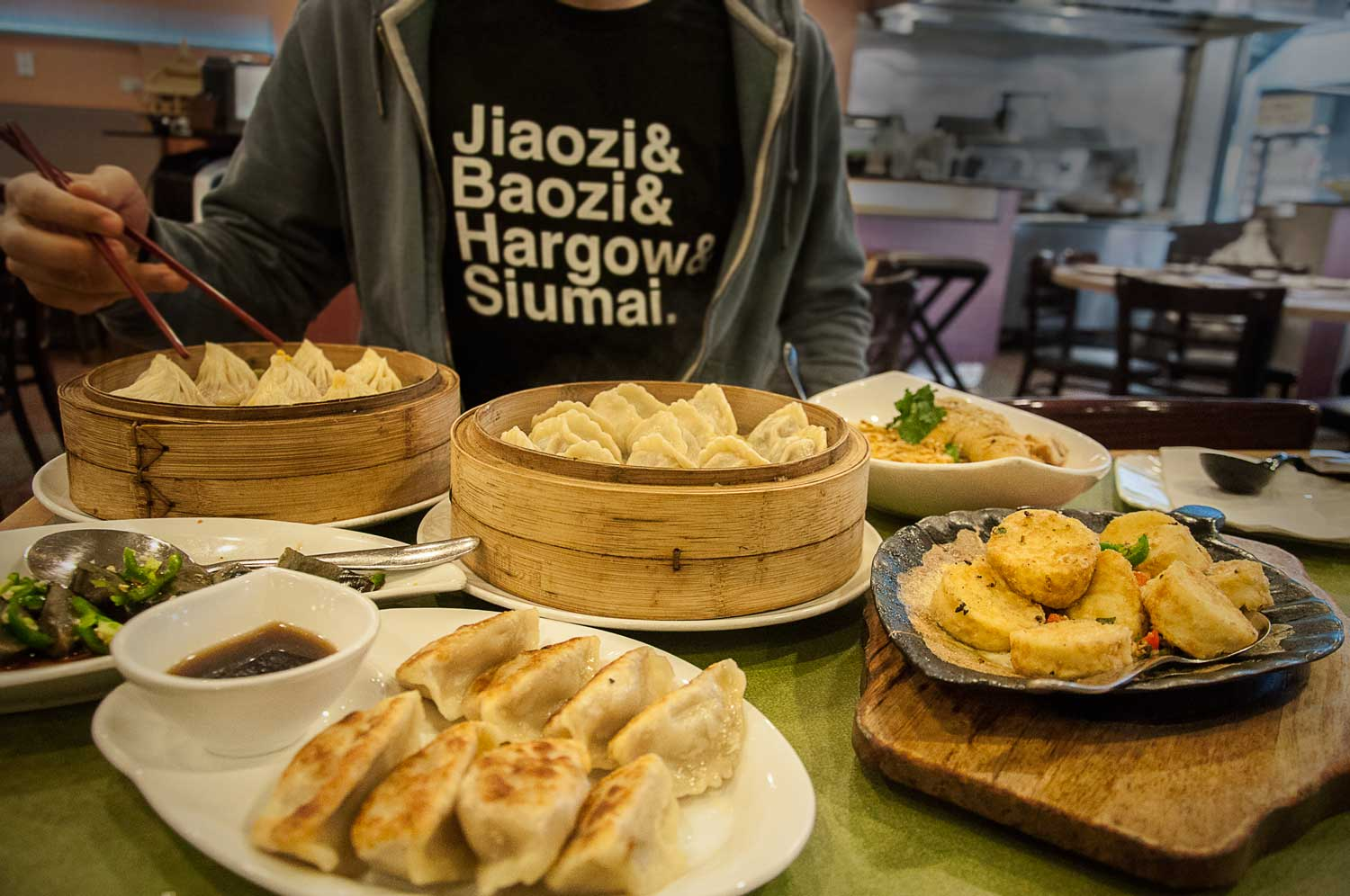 Image of FAB FOUR DUMPLING TEE