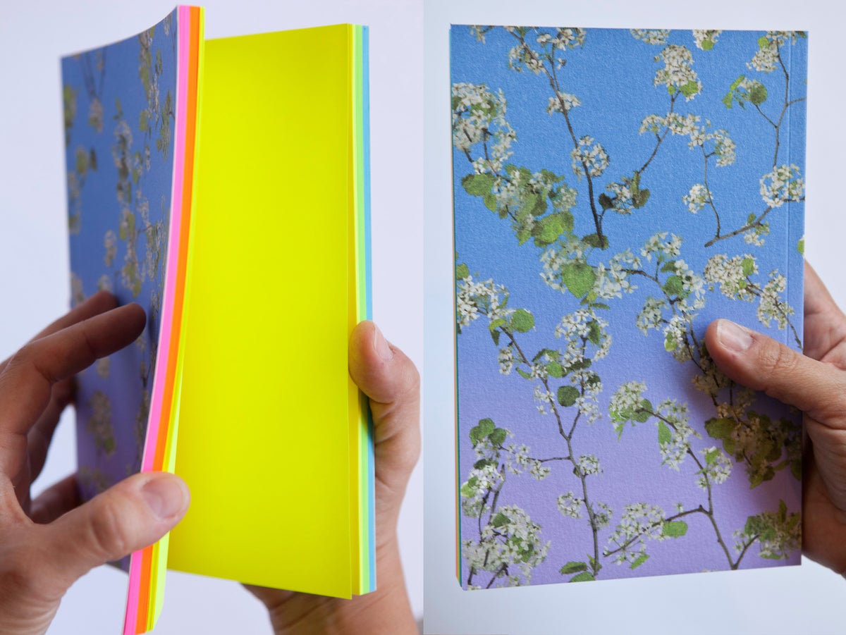 Image of Pear Blossom (with rainbow paper) Notebook