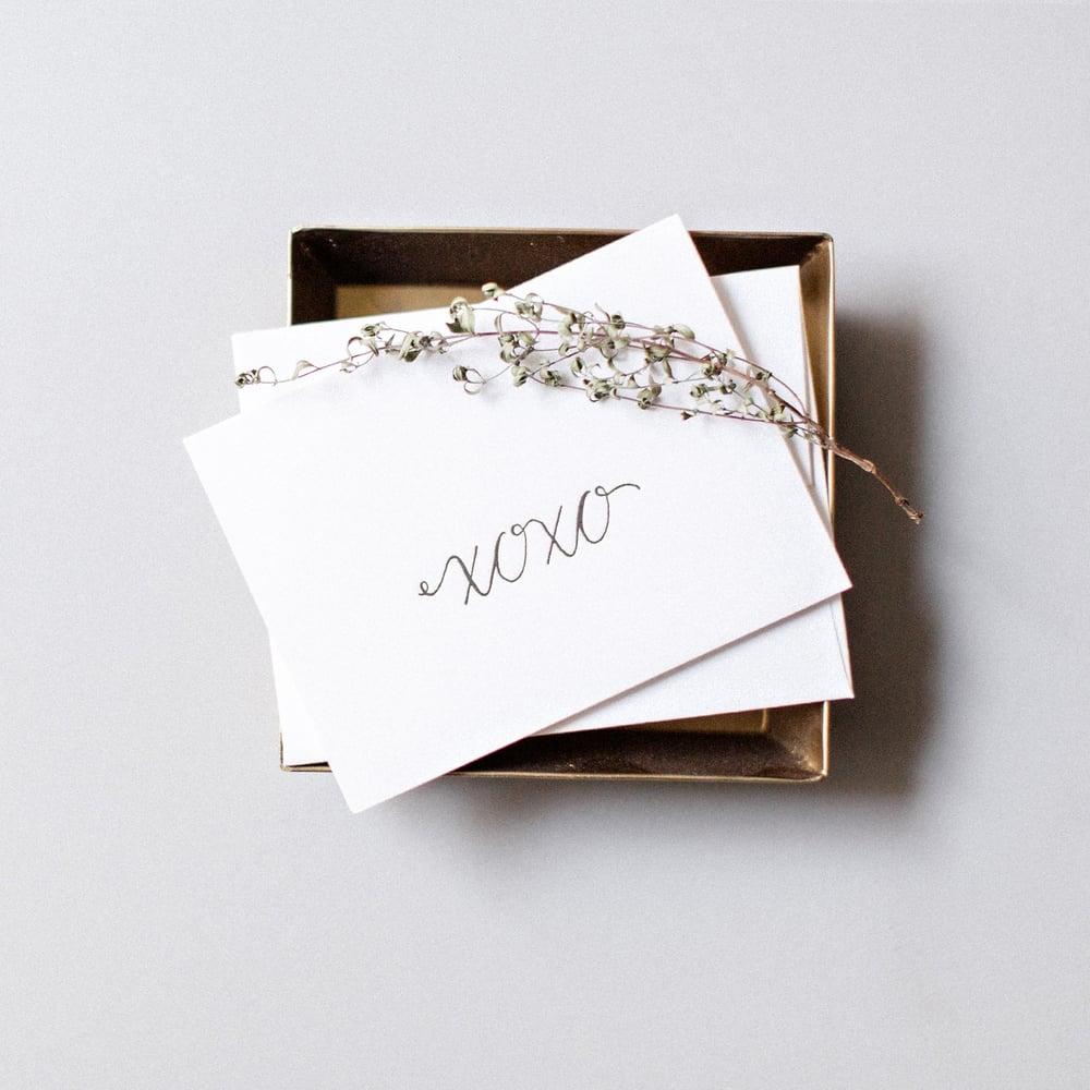 "Image of ""XOXO"" Letterpress Card"