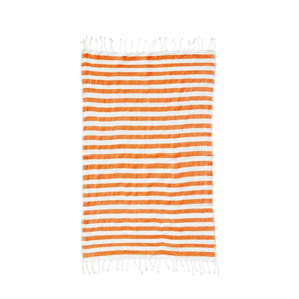Image of Hand-spun Ethiopian Towel Tangerine