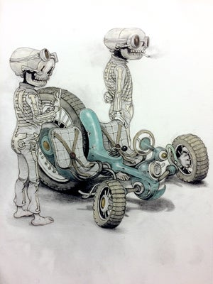 Image of Bone Rally Print by Matt Gordon