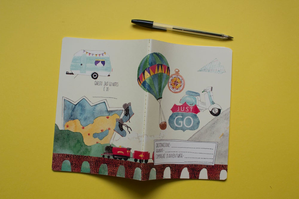 Image of QUADERNO DI VIAGGIO JUST GO