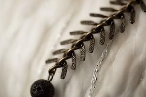 Image of Antique Brass, Glass, & Wood Essential Oil Diffuser Bracelet