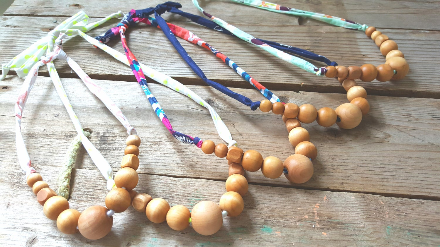 Image of Natural Wood Nursing Necklace
