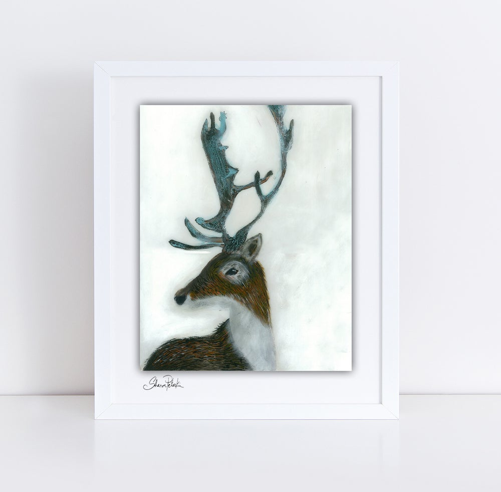 Image of Winter Deer PRINT