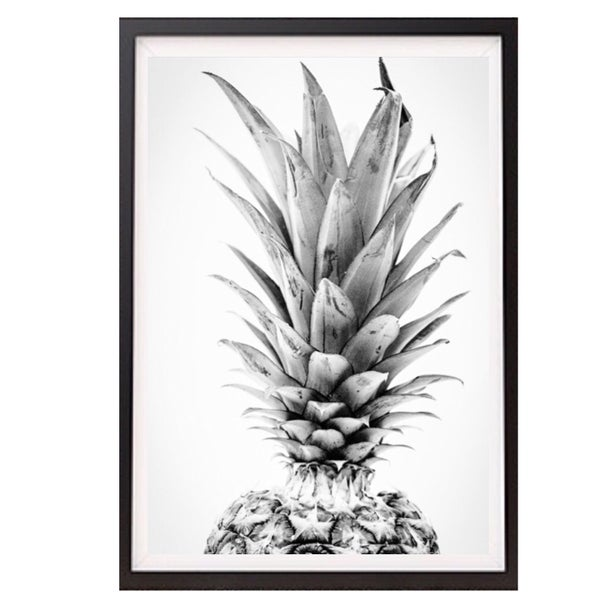Image of Pineapple BW WALL PRINT