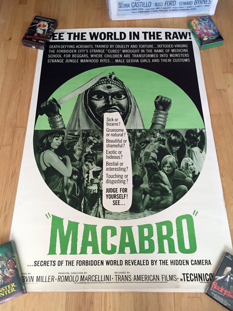 "Image of 1966 MACABRO Original U.S. 40 x 60"" Movie Poster"