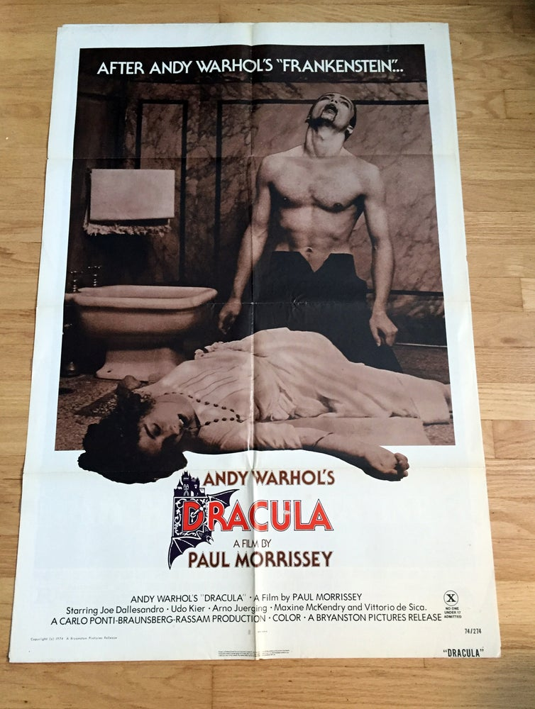 Image of 1974 Andy Warhol's Dracula Original U.S. One Sheet Movie Poster