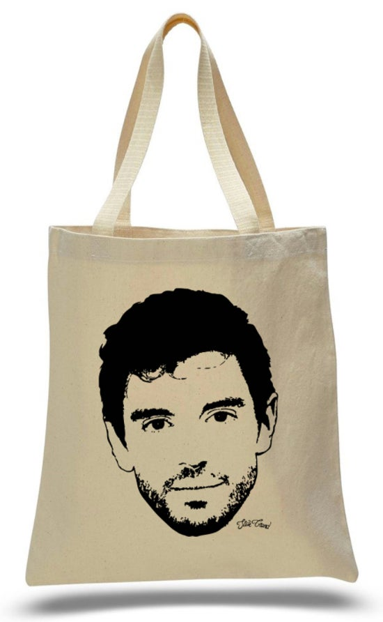 Image of *NEW* Canvas Tote Bag with Big Face