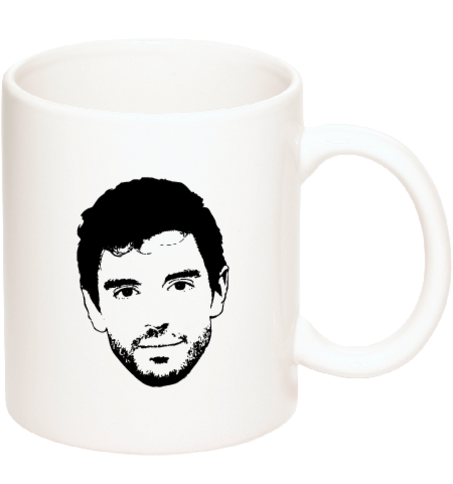 50% OFF Ceramic Coffee Mug with Big Face and 'Steve Grand' logo