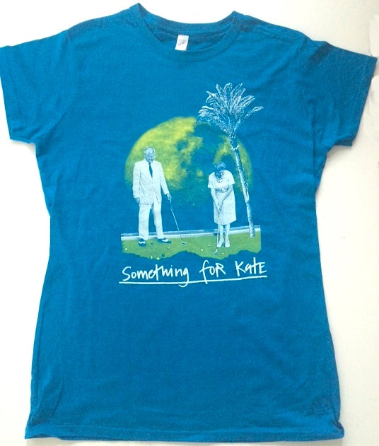 Image of Ladies 'Golf on the Moon' T-Shirt - Antique Sapphire