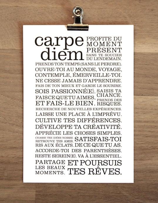 Image of Carte postale Carpe Diem