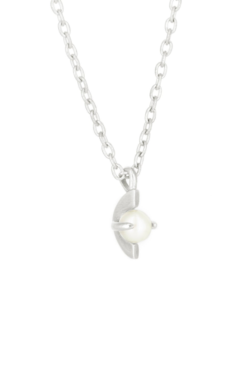 MOONAGE PEARL NCKLACE- SILVER