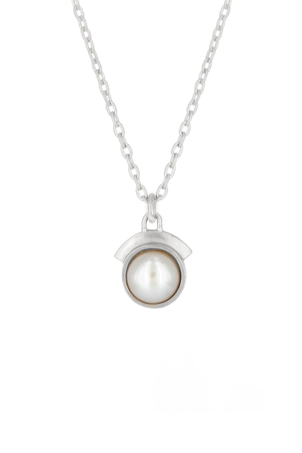 PEARL DREAM SEQUINS NECKLACE- SILVER