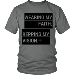 Image of Repping Faith; Wearing Vision shirt