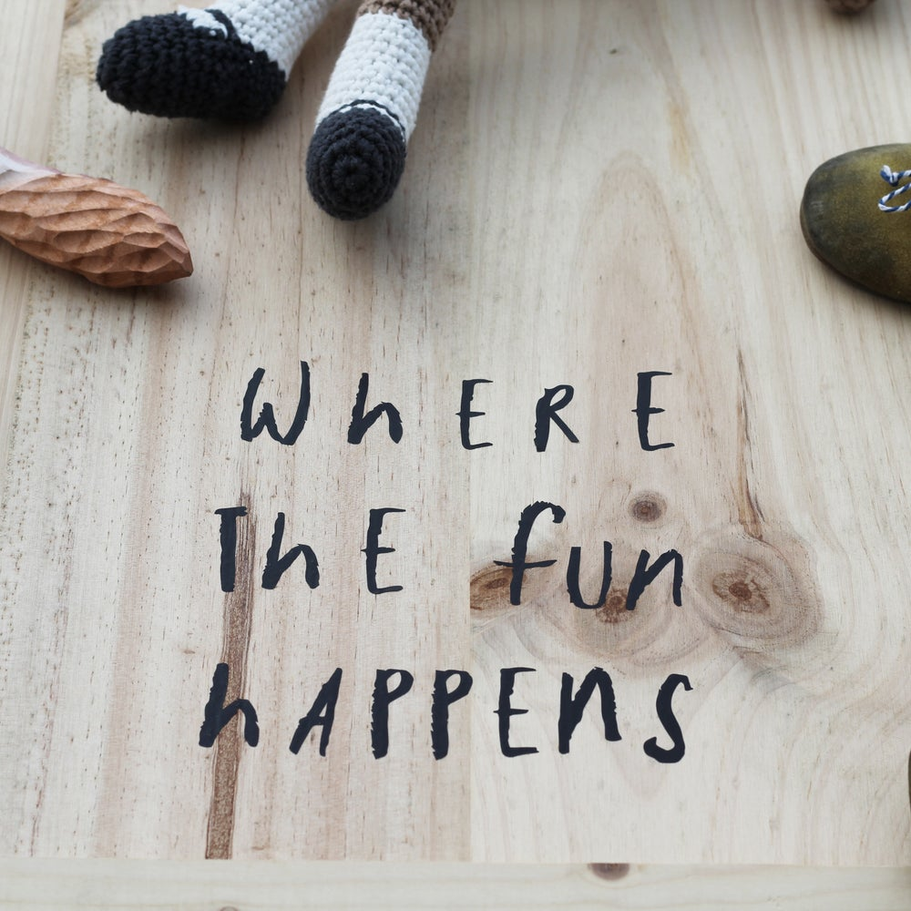 Image of FLOOR STICKER | WHERE THE FUN HAPPENS