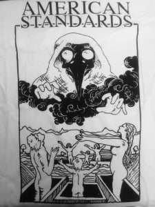 Image of Plague Doctor T Shirt (limited press on white shirt)