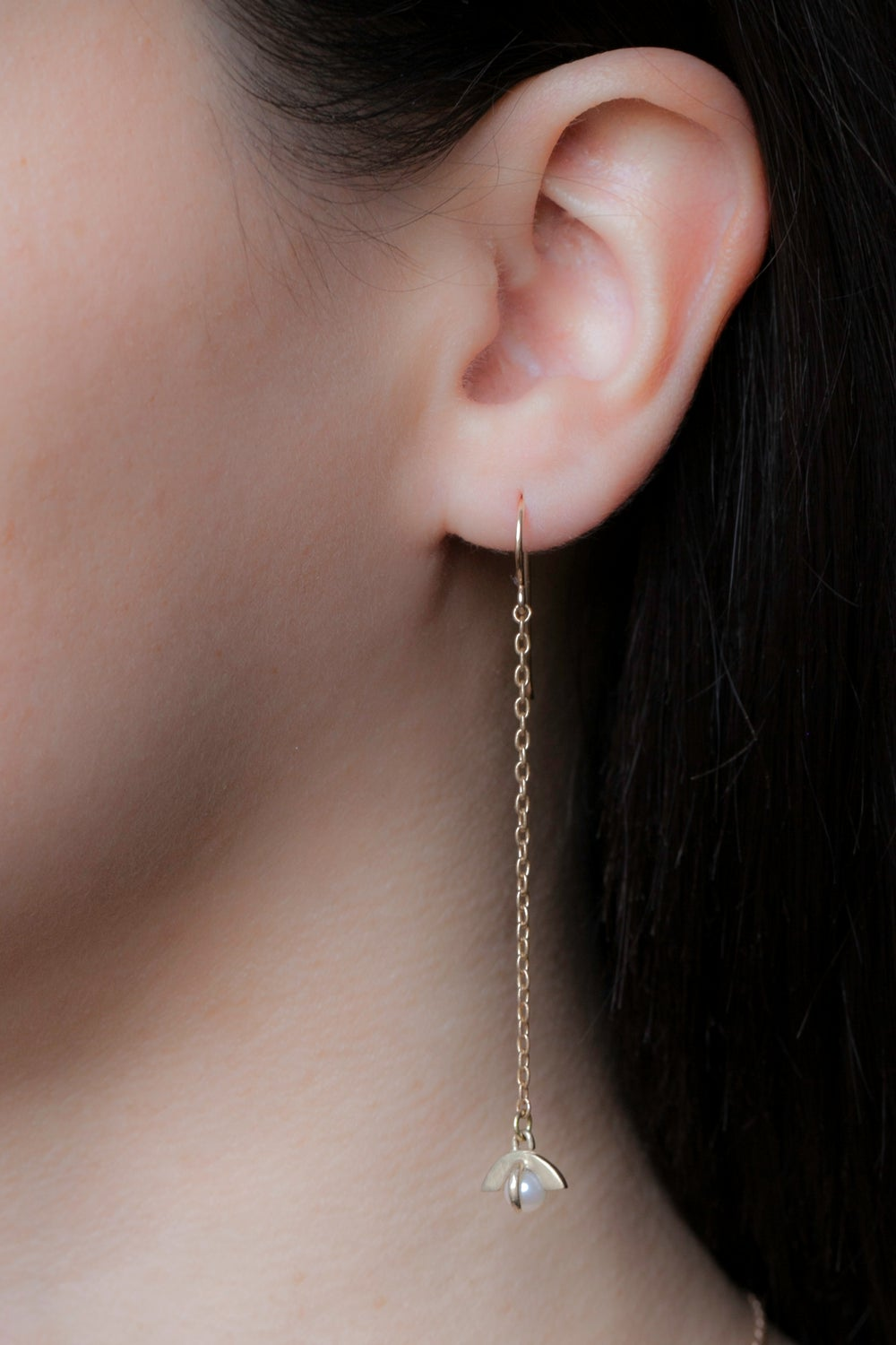 MOONRISE CHAIN EARRINGS- SILVER