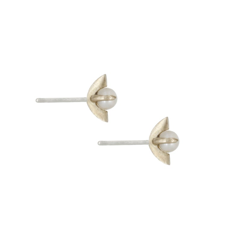 Image of MOONAGE PEARL STUDS