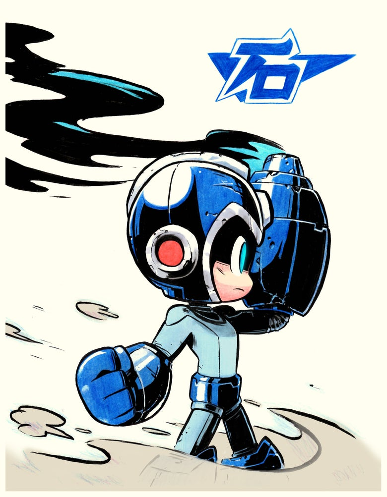 Image of Mega Man Print