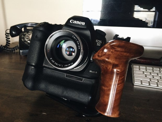 Image of Bespoke Wooden Camera Handles by Allen Henson