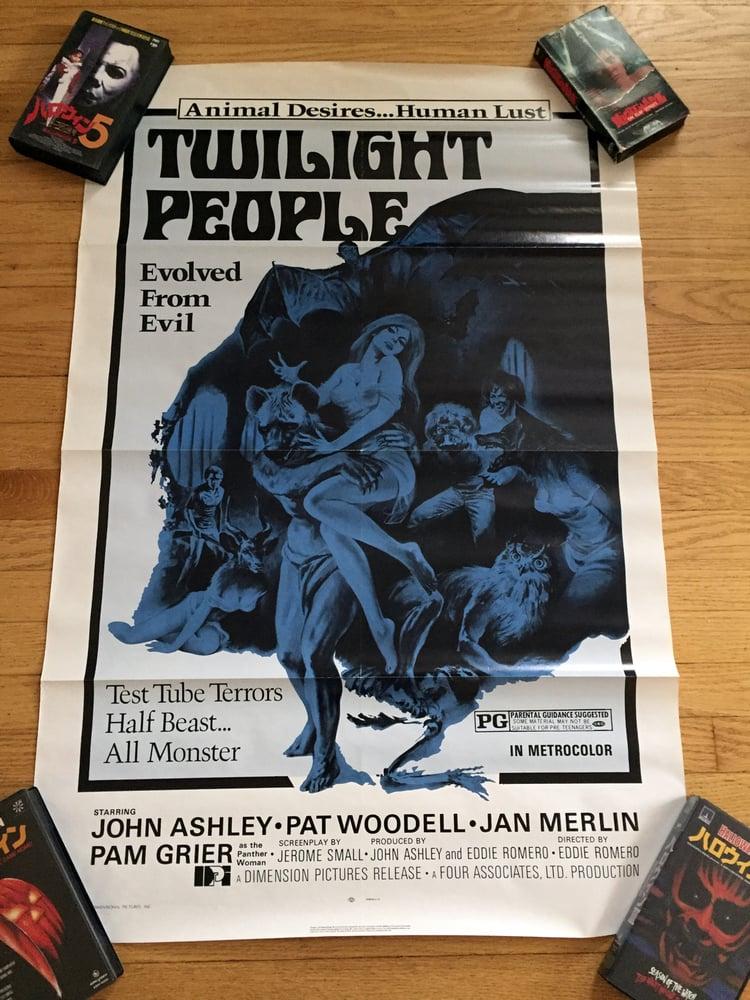 Image of 1972 THE TWILIGHT PEOPLE Original U.S. One Sheet Movie Poster