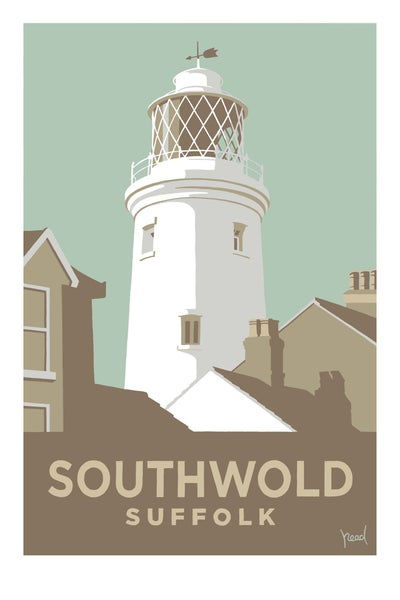 Image of Southwold Lighthouse; Pale Blue; Steve Read