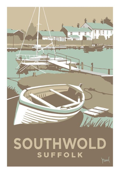 Image of Southwold Harbour, Pale Blue; Steve Read