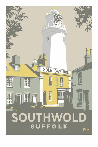 Image of Southwold Lighthouse/Sole Bay Inn; Yellow; Steve Read