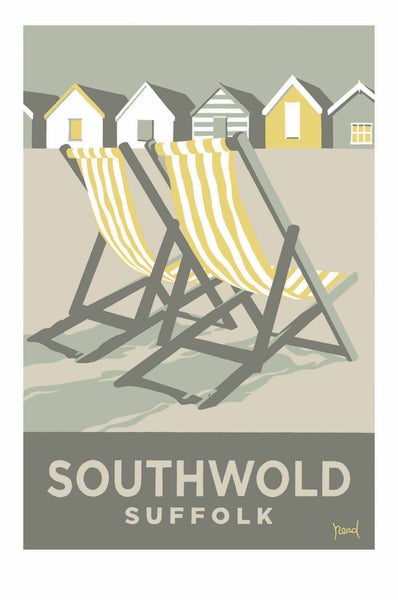 Image of Southwold Deckchairs, Yellow; Steve  Read