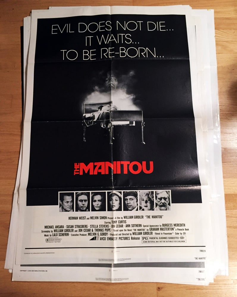 Image of 1978 THE MANITOU Original U.S. One Sheet Movie Poster