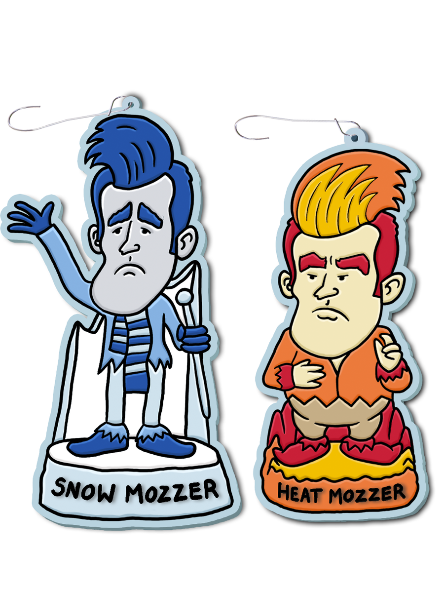 Image of Snow Mozzer & Heat Mozzer Ornament Set (BACK ON SALE BLACK FRIDAY!)