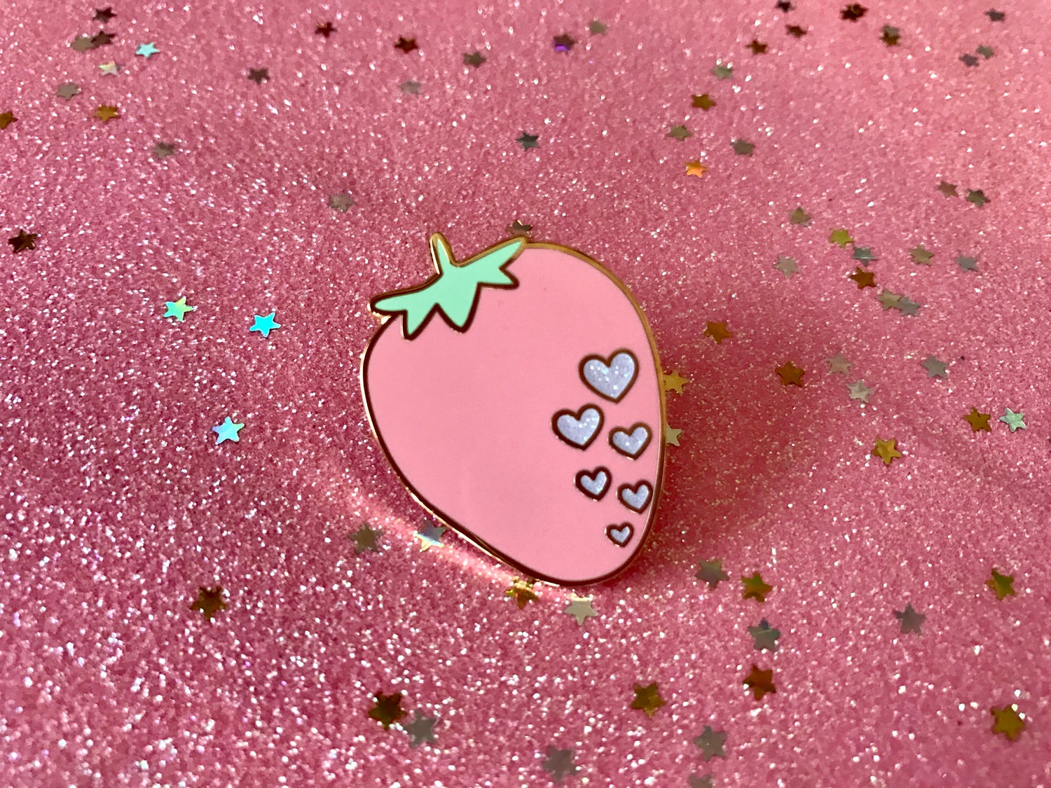 Image of Strawberry Heart Enamel Pin