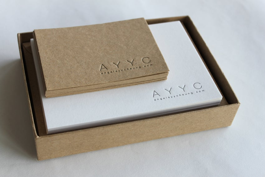Image of Personalised Stationery Box Set - Set of 25 notecards & envelopes