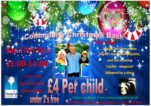 "Image of Adult Ticket to ""Community Christmas Bash"" Beverley Park, Paignton Saturday 17th December 11am-2pm"