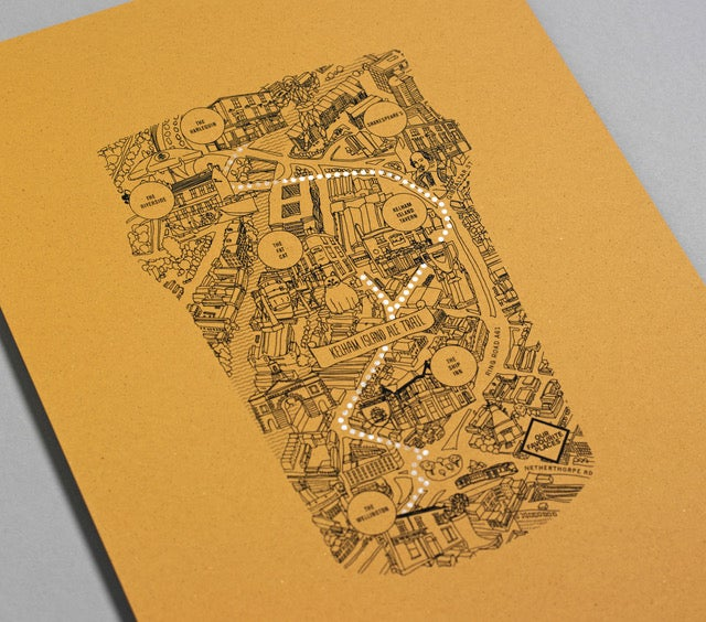 Image of Sheffield Ale Trail Screen Print
