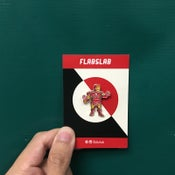 Image of Fat Ironman enamel pin